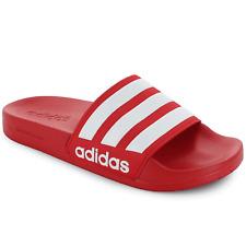 adidas 3-Stripe Adilette Shower Slide Sandals AQ1705 Red/white
