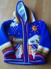 Handgefertigte Kinder Strick/Winterjacke Gr. 92/98