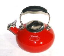 Chantal Candy Apple Red Enamel on Steel Eclipse Whistling Teakettle 1.8 Qt
