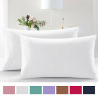 (Set of 2) Luxury 100% Cotton Body Pillow Cover Pillowcase Set Soft 300TC Hotel