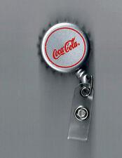 Coca-Cola Silver Badge Clip / Lanyard - FREE SHIPPING