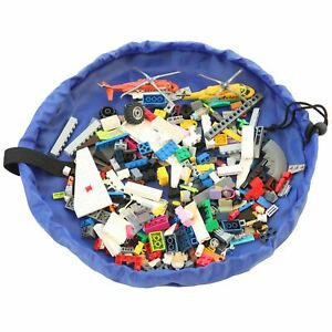 Kids Portable Toy Storage Bag Organiser Play Mat Rug Drawstring Tidy For Legos
