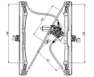 Window Reg With Motor  TYC  660216