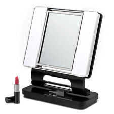 OttLite Natural 5X-1X Lighted Magnifying Vanity Mirror BLACK Low Vision