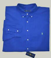 New S M L XL XXL POLO RALPH LAUREN Mens Oxford Shirt top Royal Blue long sleeve