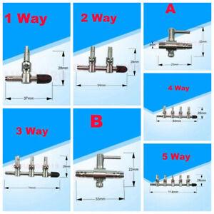 Aquarium Tank Air Pump Air Flow splitter Tube Pipe Line Multi way Control Valve
