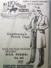 Buckaroo Bobbins Gentleman's Frock Coat Mens Clothing Reenactment Sewing Pattern