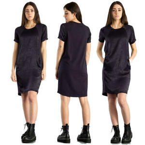 Abito da donna EVERLAST abitino estivo cotone e modal doppio tessuto vestito blu
