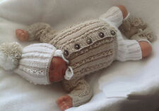 Baby Knitting Pattern DK TO KNIT Boys Cardigan Hat Trousers Booties Reborn Dolls