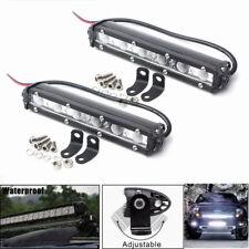 2x 36W 7inch LED Work Light Bar Flood Driving Fog Light Off Road SUV Truck 6000K