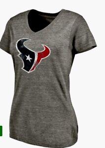 Majestic Women's Houston Texans Football Distressed Fan Fashion Shirt Sz. M NEW