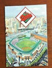 1992 Baltimore Orioles Camden Yards MLB Baseball Pocket Schedule