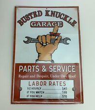 "Vintage Man Cave Cafe Garage Metal Tin Sign Wall Decor Retro Art Plate 13""x9"""