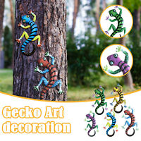 5PC Garten Dekoration Gecko Kunstwerk Ornamente Familie Balkon Dekoration Banner