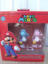 Super Mario Bros. Mini Figures 2-Pack-Blue Yoshi and Pink Yoshi -NIP