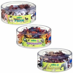 *New Plastic Toy Farm/Safari Animals/Dinosaurs 48 in Pack - Great Gift UK*