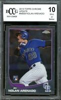 2013 Topps Chrome Update #MB39 Nolan Arenado Rookie Card BGS BCCG 10 Mint+