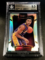 D'ANGELO RUSSELL 2015 PANINI SELECT 62 SILVER REFRACTOR ROOKIE RC ALL BGS 9.5 10