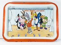 Vintage 1979 Bugs Bunny & Friends TV Lap Tray T.M. & Warner Bros Metal w/ Legs