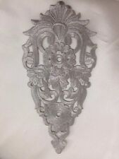 Silver Floral Motif Iron/sew on embroidered flower embellishment applique