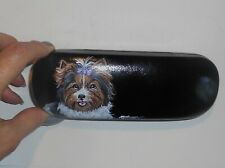 Biewer Yorkshire Terrier Yorkie Dog Eyeglass Glasses Hard Case Hand Painted