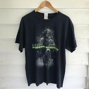 Vintage CALL OF DUTY MW2 Black T-Shirt Size XL