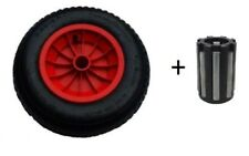 "14"" RED PNEUMATIC WHEELBARROW WHEEL WITH 20MM BEARINGS (3.50/4.00-8) replacement"