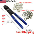 """PEX Cinch Crimp Crimper Crimping Tool 3/8"""" to 1"""" + 30 1/2"""" and 3/4"""" SS CLAMPS"""