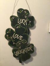 Wall art, Shamrock, Luck Love Laughter, st. patricks, Irish, Wall Hanging