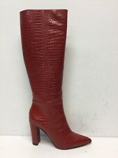 Sam Edelman Raakel Womens Knee High Boot Red Leather Size 11 M