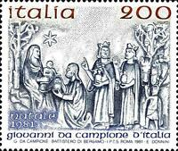 # ITALIA ITALY - 1981 - Natale Christmas - Set 1 Stamp MNH
