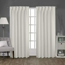 Magic Drapes Double Pinch Pleated Curtains Kitchen Living Room Bed Room (52x63)
