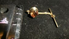 Vintage SWANK Tie Tack With Yellow Stone