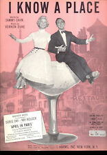 "APRIL IN PARIS Sheet Music ""I Know A Place"" Doris Day Ray Bolger"