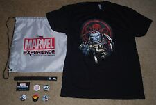 MARVEL EXPERIENCE PROMOTIONAL BACK PACK, T~SHIRT, WRISTBAND & BUTTONS BRAND NEW