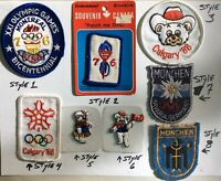 OLYMPIC PATCHES~ 1976 Montreal, 1988 Calgary, 1936 Germany ~'CHOOSE YOUR STYLE'