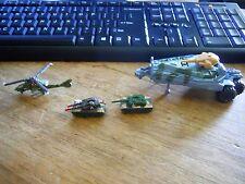 1989 Kenner Mega Force Mixed Vehicle Lot x 4