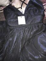 Little Mistress Shimmer Midi Dress - Blue Uk Size 12/ RRP £80