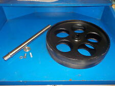"BANDSAW WHEELS BANDWHEELS 16"" WITH SHAFT NEW BUILD YOUR OWN SAWMILL BANDMILL"