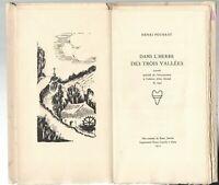 Petite rareté > Henri POURRAT Herbe des 3 vallées. Dessin et typo Pierre GAUDIN