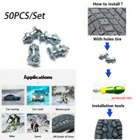 50X Screw In Tire Stud Snow Chain Non-Slip Screws Snow Nail Spike for Car Auto