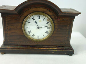 Vintage Swiss Buren Mantle Clock with Key For Parts