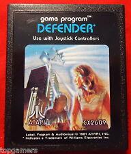 """Defender-ATARI p cx2609-label error """"atrri"""" - Atari vcs 2600 (module)"""
