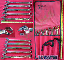 New Snap On 12 Pts Metric Combination FLANK Drive Plus Wrench 5 Pcs Set SOEXM705