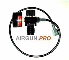 PCP Air Gun Rifle DIN (5/8 BSPT) Charger Filling Charging Adapter with gauge