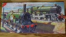 CHAD VALLEY GWR 1934 RARE BOXED WOODEN JIGSAW LOCOMOTIVES OLD AND NEW 200pc