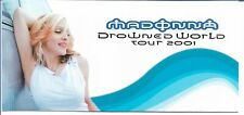 Madonna - Drowned World Tour 2001 - Rare set of 3 Hospitality tickets w/ wallet