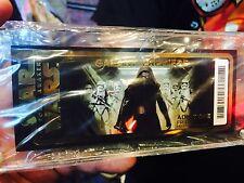 2015 Star Wars The Force Awakens Galaxy Premiere Golden Ticket LE 30,000 disney