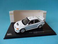 MITSUBISHI LANCER EVO V 1998 - RALLY SPECS TEST CAR WHITE  1/43 NEW IXO MDCS012