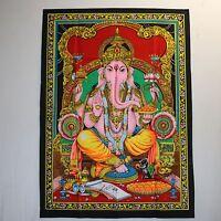 TENTURE MURALE TABLEAU Ganesh inde Bollywood Thangka Om GOA HIPPIE kpal 8